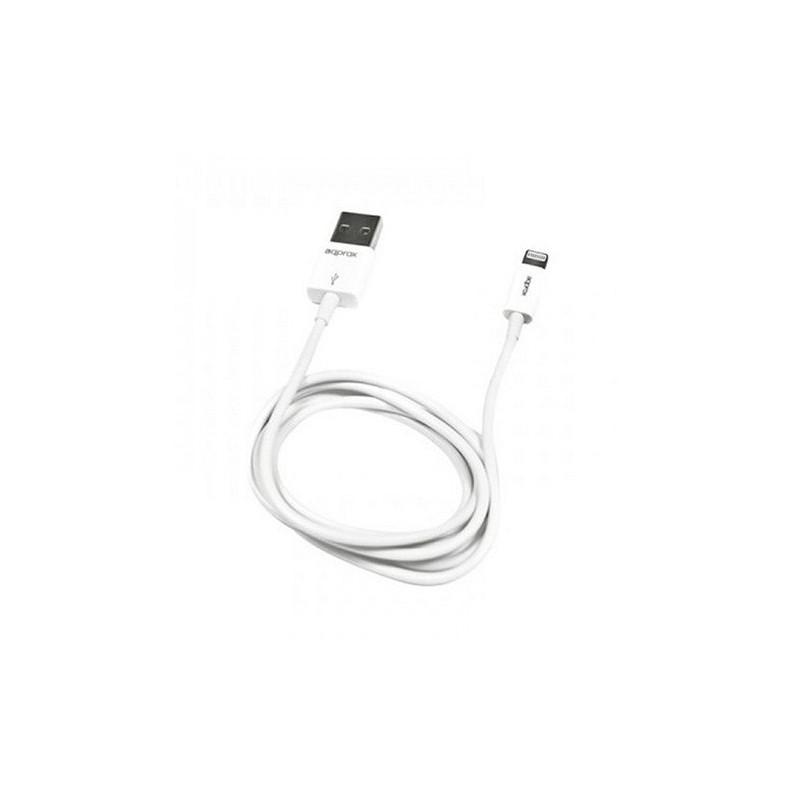 CABLE USBA 20 A MICRO USBB LIGHTNING APPROX 1M BLANC