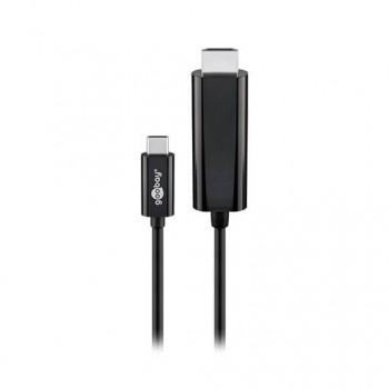 CABLE USBC 30 A HDMI GOOBAY 18M NEGRO