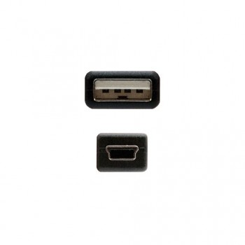 CABLE USBA 20 A MINI USB 5 PIN NANOCABLE 05M NEGRO