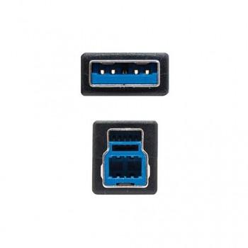 CABLE USBA 30 A USBB 30 NANOCABLE 2M NEGRO