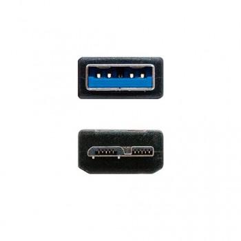 CABLE USBA 30 A MICRO USBB 30 NANOCABLE 1M NEGRO