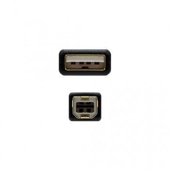 CABLE FERRITA USBA 20 A USBB 20 NANOCABLE 2M NEGRO