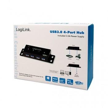 HUB 4 PUERTOS USB 30 LOGILINK UA0149
