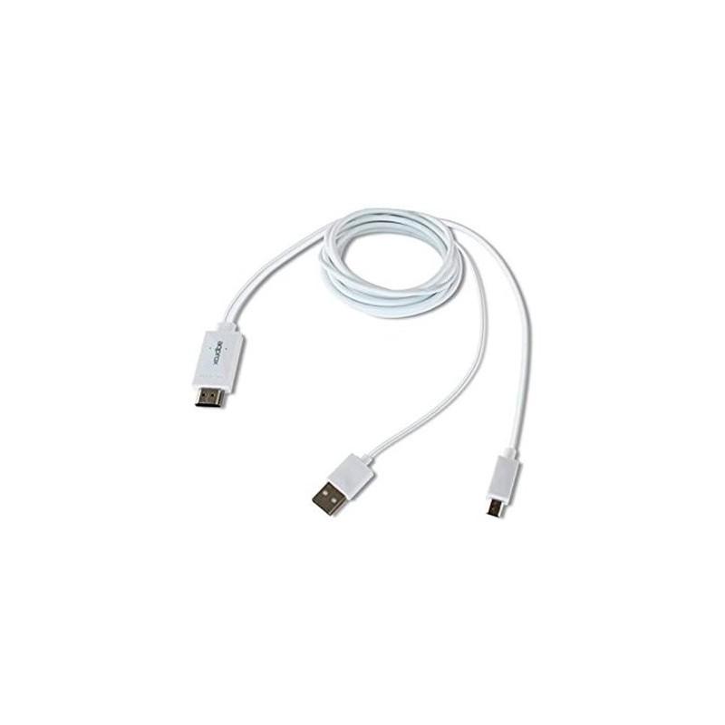 ADAPTADOR MHL 10 A HDMI APPROX APPC23 BLANCO