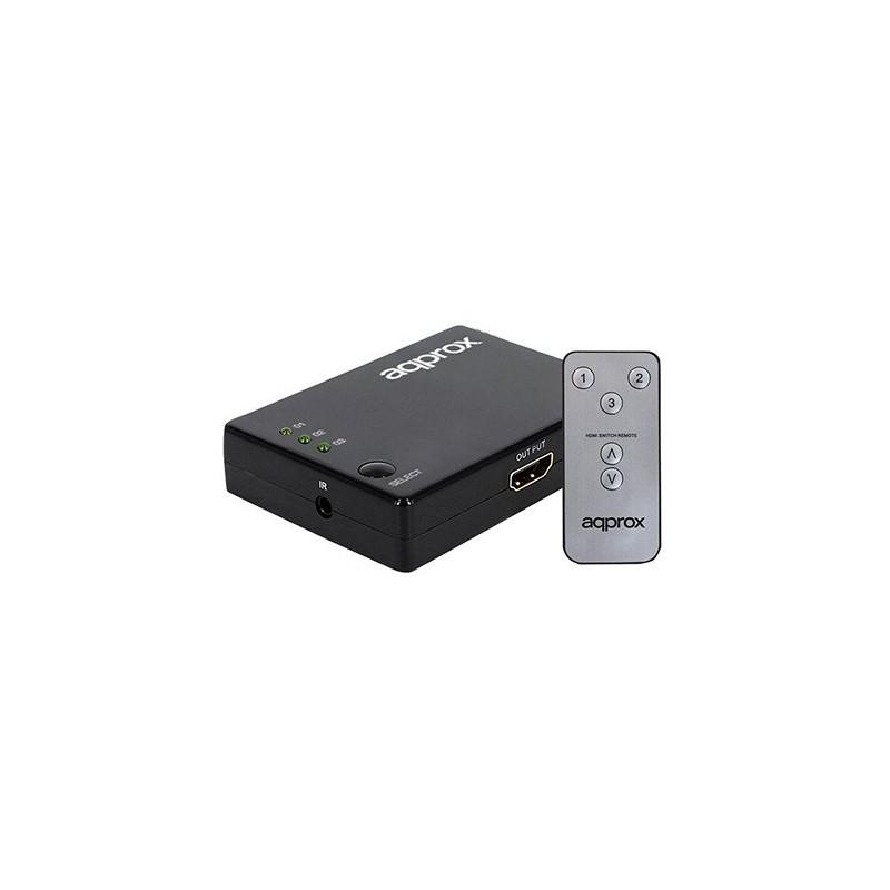 HUB 3 PUERTOS HDMI CON MANDO APPROX APPC29V2