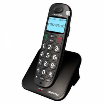 TELEFONO DECT DAEWOO DTD-7100 NEGRO +80Db AUDI