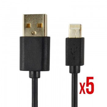 CABLE POWER2GO CONECT LIGHTNING A USB NEGRO PACK 5