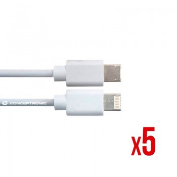 CABLE POWER2GO USB A A USB C 30 1M BLANCO PACK 5