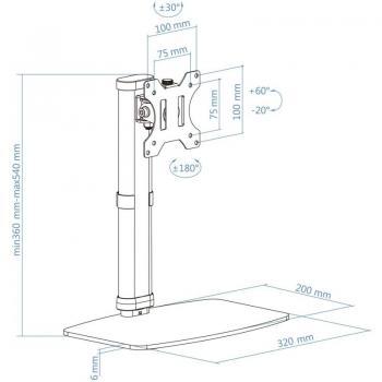 Soporte para Monitor TooQ DB1127TN-B/ hasta 6kg - Imagen 5