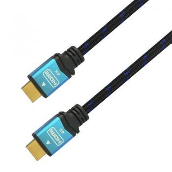 Cable HDMI 2.0 4K Aisens A120-0359/ HDMI Macho - HDMI Macho/ 5m/ Negro/ Azul - Imagen 2