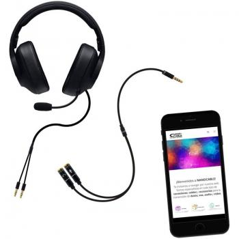 Adaptador Audio Nanocable 10.24.1202/ Jack 3.5 Macho - 2x Jack 3.5 Hembra/ 30cm/ Negro - Imagen 3