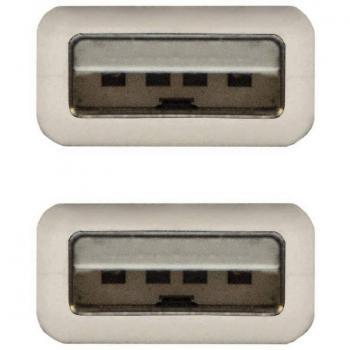 Cable USB 2.0 Nanocable 10.01.0303/ USB Macho - USB Macho/ 2m/ Beige - Imagen 3