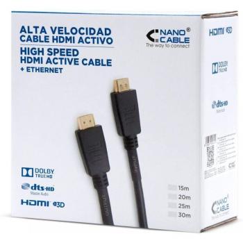 Cable HDMI 1.4 Nanocable 10.15.1815/ HDMI Macho - HDMI Macho/ 15m/ Negro - Imagen 4