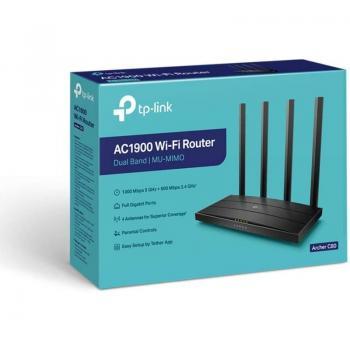 Router Inalámbrico TP-Link Archer C80 1900Mbps/ 2.4GHz 5GHz/ 4 Antenas/ WiFi 802.11ac/n/a - n/b/g - Imagen 4