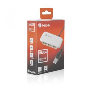 Hub USB 2.0 NGS IHUB4/ 4 Puertos USB/ Blanco - Imagen 5