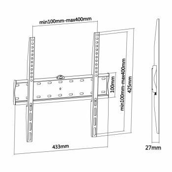 Soporte de Pared Fijo Aisens WT55F-013 para TV de 32-55'/ hasta 40kg - Imagen 4
