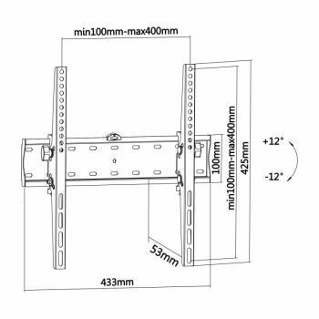 Soporte de Pared Inclinable Aisens WT55T-015 para TV de 32-55'/ hasta 40kg - Imagen 4