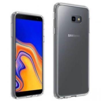 Carcasa Samsung Galaxy J4 Plus Hybrid (bumper + trasera) Transparente - Imagen 1