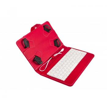 Funda Universal con teclado para tablets de 7 a 8 pulgadas Rojo y Blanco - Imagen 1