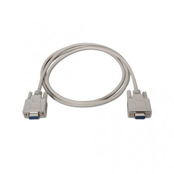 CABLE SERIE NULL DB9 H H AISENS BEIGE 18M BEIGE