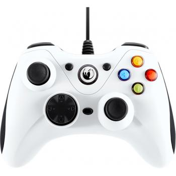 PCGC-100WHITE mando y volante Blanco USB Gamepad Analógico PC - Imagen 1