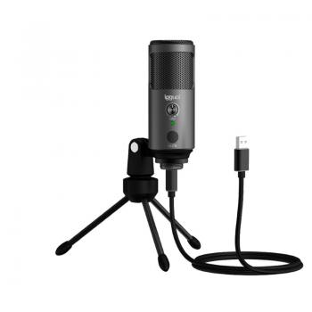 Micrófono condensador Podcasting Pro gris - Imagen 1