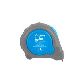 MT01-0300-B cinta métrica 3 m De plástico, Caucho Azul, Gris - Imagen 1
