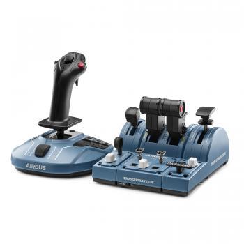 TCA CAPTAIN PACK AIRBUS EDITION PC Joystick +Double manette des gaz Réplique A3 Negro, Azul USB Simulador de Vuelo - Imagen 1