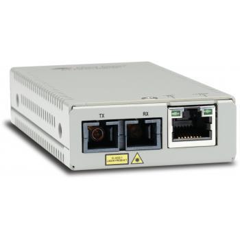 AT-MMC200/SC-60 convertidor de medio 100 Mbit/s 1310 nm Multimodo Plata - Imagen 1