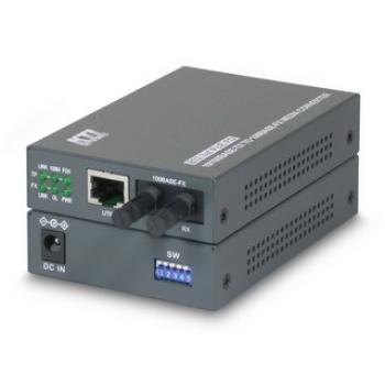 KC-350 100Mbit/s 1310nm Monomodo Gris convertidor de medio - Imagen 1