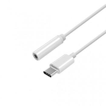 ADAPTADOR USB C M A JACK 35 H AISENS 15CM BLANCO