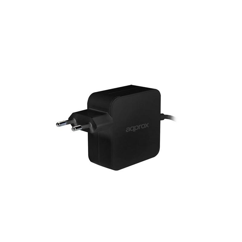 ADAPTADOR CORRIENTE USB C DE 45W APPROX NEGRO