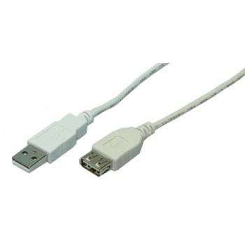 CABLE EXTENSOR USBA 20 A USBA 20 LOGILINK 5M GRIS